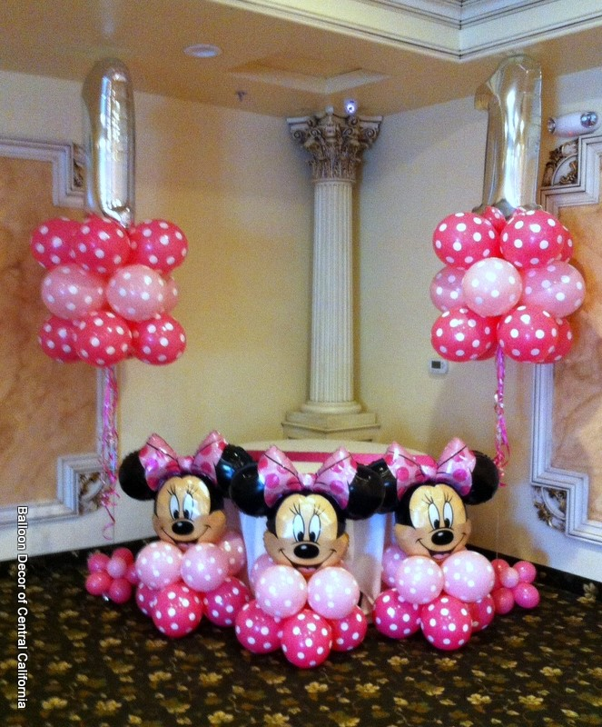 Balloon decor of central california party for 1st birthday balloon decoration images