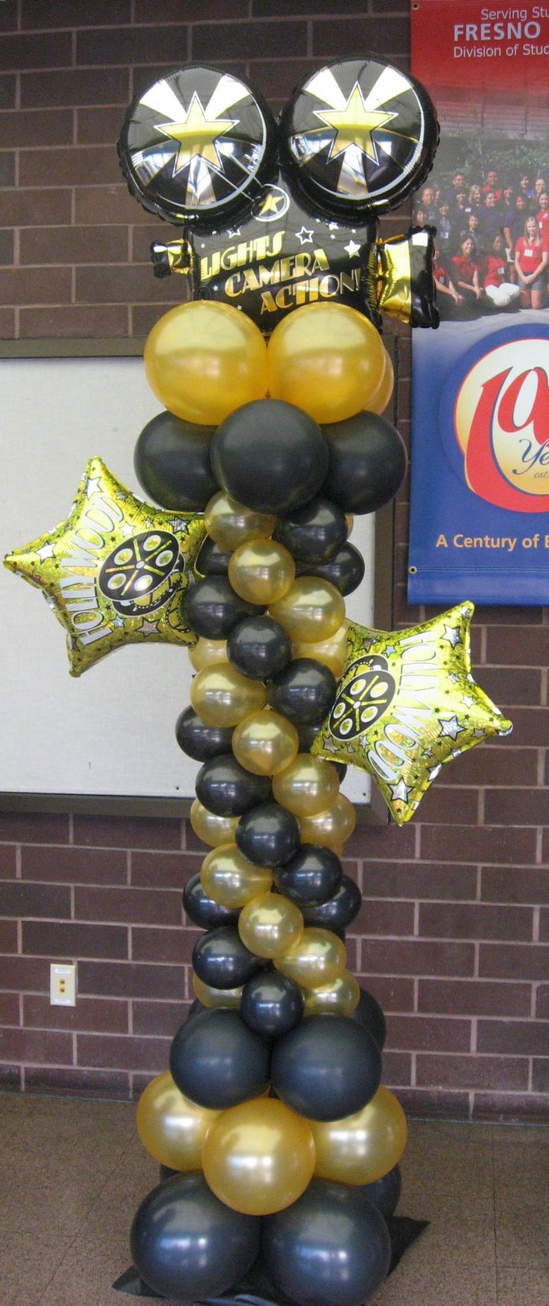 Balloon decor of central california themes for Decoration action