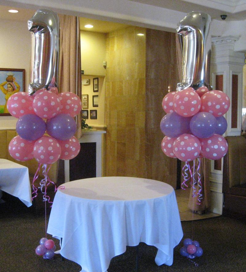1st birthday balloon decorations party favors ideas for Balloon birthday decoration