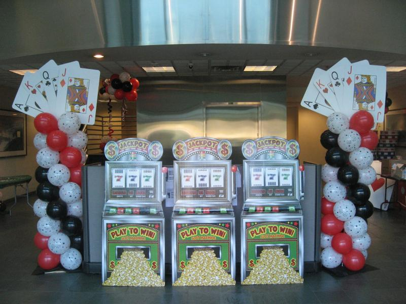 casino theme balloon decorations - Casino Decorations