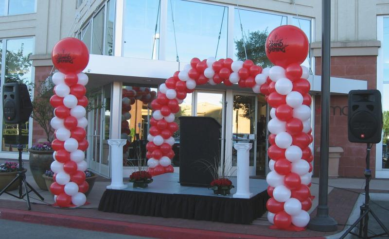 Balloon decor of central california grand opening