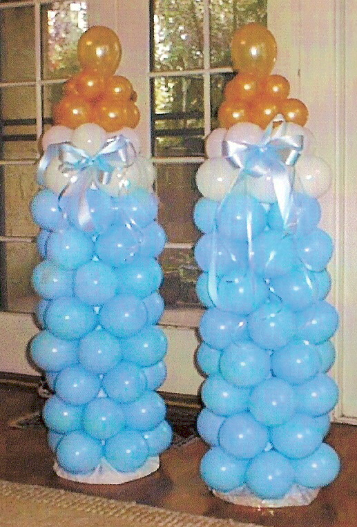 Baby balloon decorations party favors ideas for Balloon decoration for baby shower
