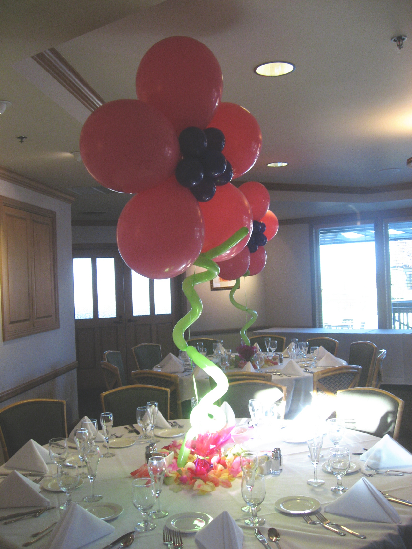 Balloon decor of central california centerpiece