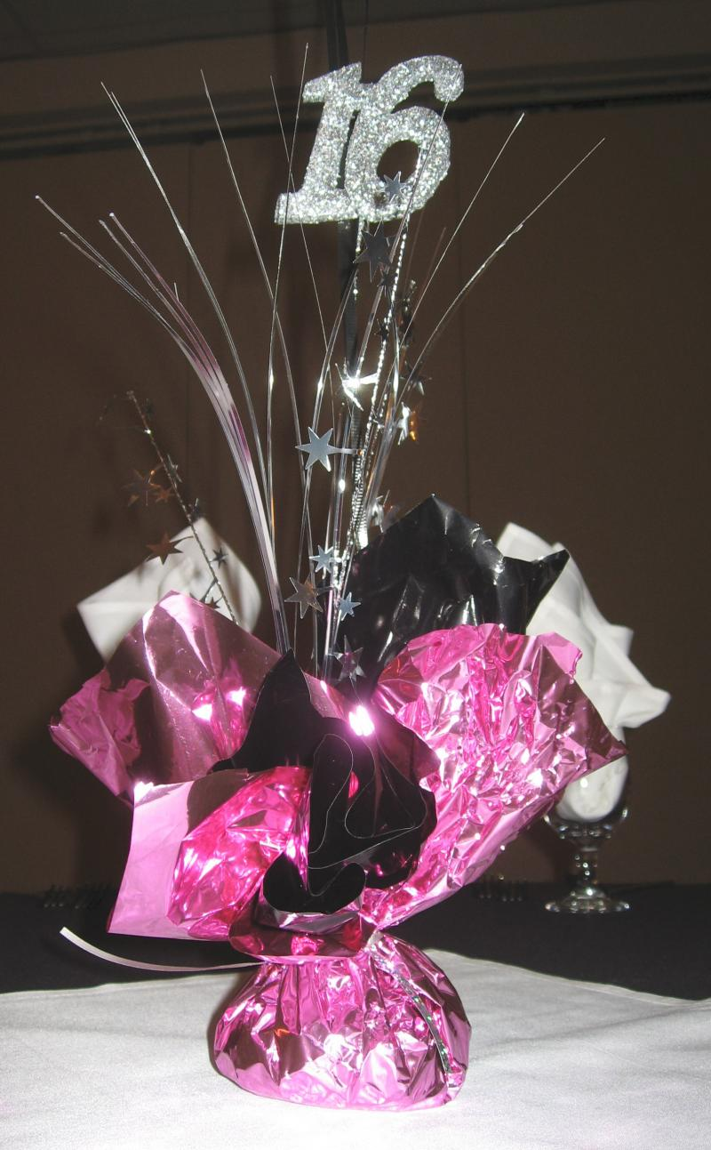 Shop Party City for all styles of table centerpieces, including cascade foil, honeycomb, and glitter cardstock.