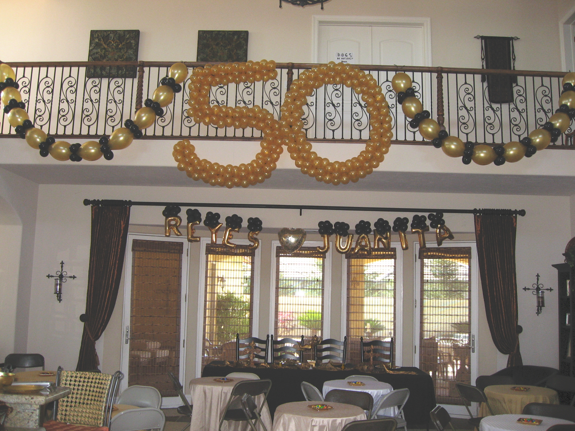 50th anniversary decorations 50th anniversary party for Anniversary decoration ideas home