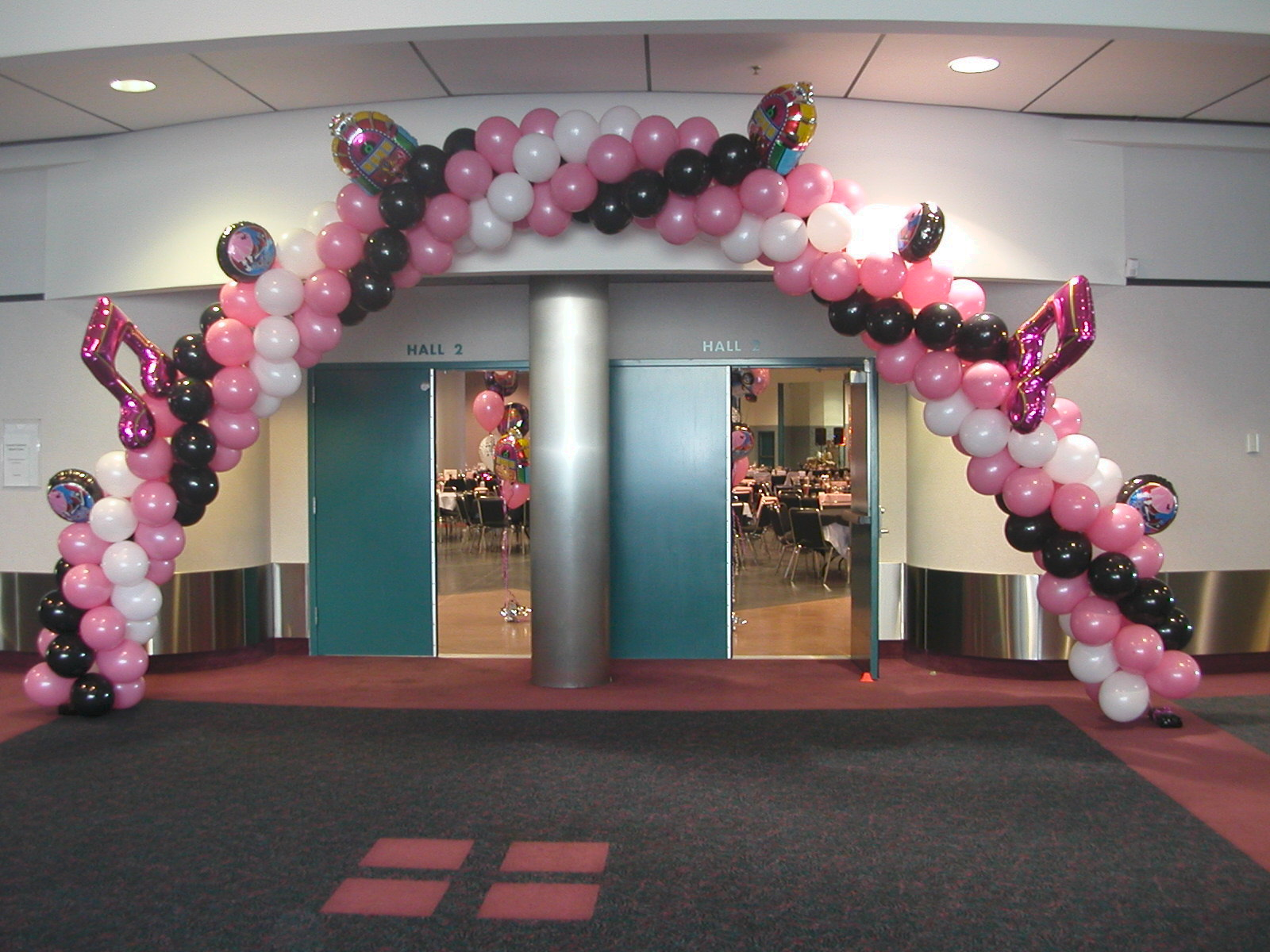 Balloon decor of central california party for 50 s party decoration