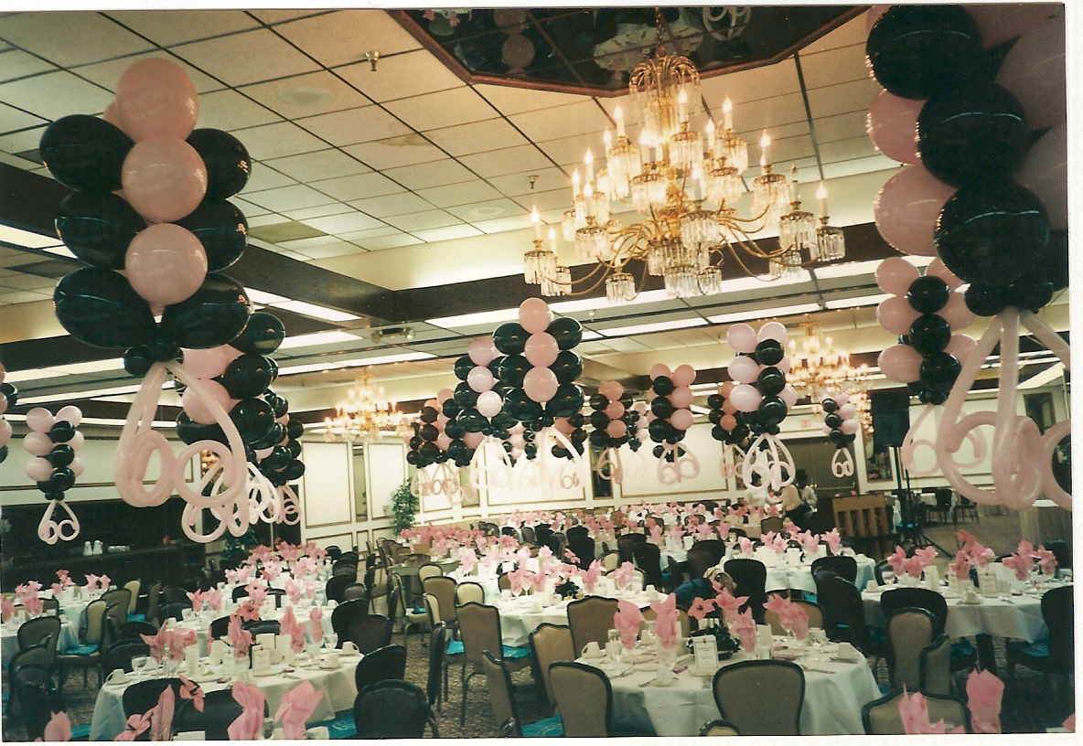 Balloon decor of central california party for Deco decorations