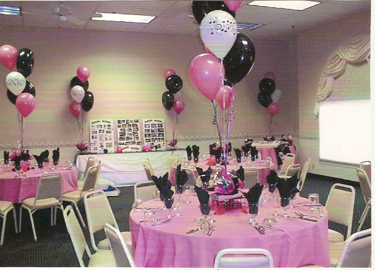 Balloon centerpieces party favors ideas for 50s wedding decoration ideas